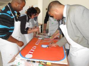 Team building, Création d'une fresque - 3