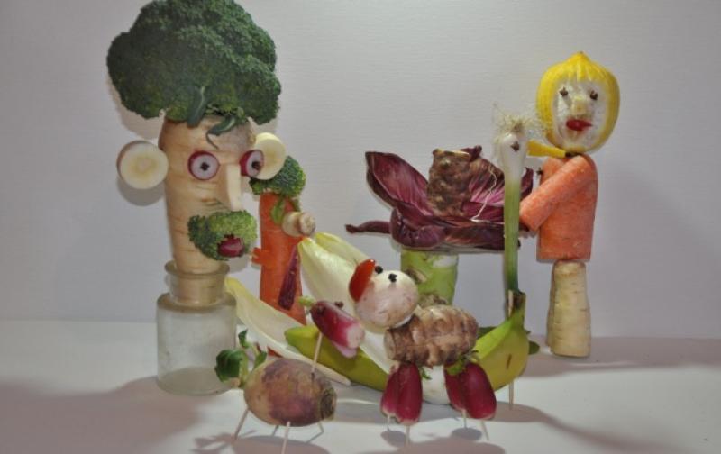 Team Building Sculpture Fruit Et Legume